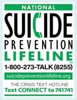 Suicide Prevention Lifeline, 1-800-273-8255