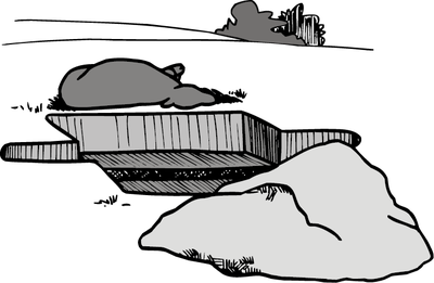 illustration of pit for disposal of carcass