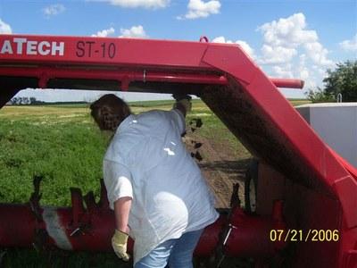 Removing organic matter