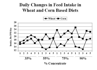 Daily Changes in Feed Intake