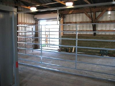 Single animal width door