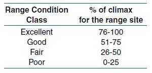Range Condition Class
