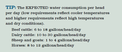 Water consumption per head