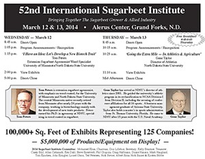 52nd International Sugarbeet Institute