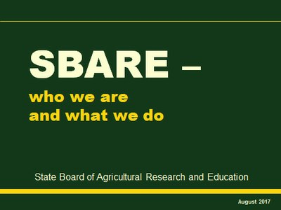 SBARE Who We Are Aug2017 cover slide image