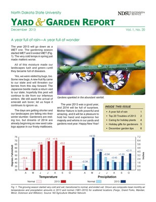 NDSU Yard & Garden Report for December 2013