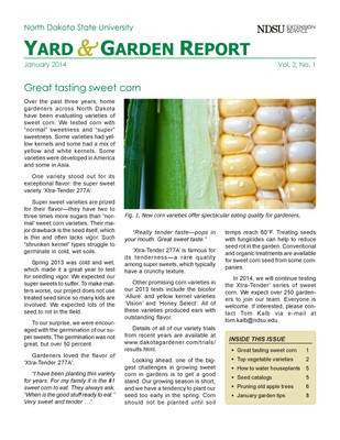 NDSU Yard & Garden Report for January 2014