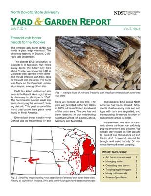 NDSU Yard & Garden Report for July 7, 2014