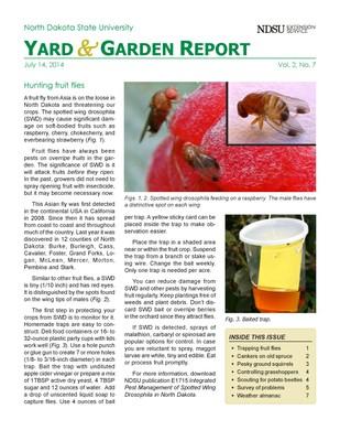 NDSU Yard & Garden Report for July 14, 2014