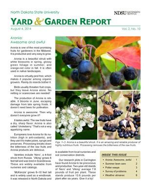 NDSU Yard & Garden Report for August 4, 2014