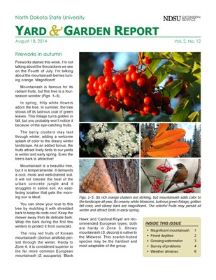 NDSU Yard & Garden Report for August 18, 2014