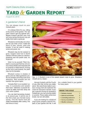 NDSU Yard & Garden Report for August 25, 2014