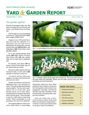 NDSU Yard & Garden Report for September 1, 2014