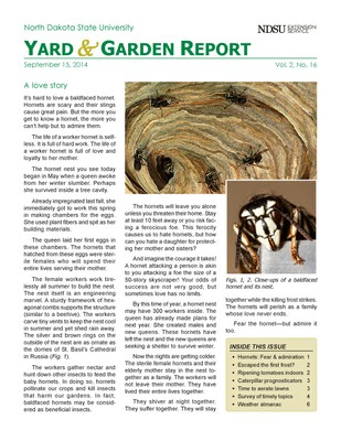 NDSU Yard & Garden Report for September 8, 2014
