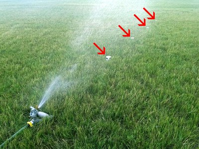 Lawn sprinkler measurement