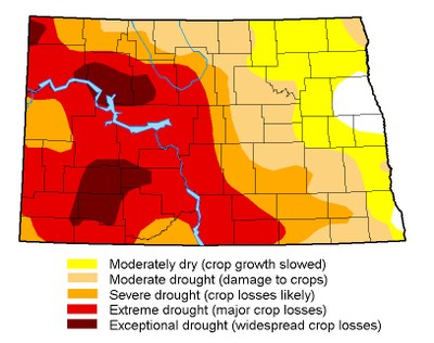 Drought map for August 1, 2017