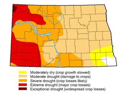 Drought map for September 12, 2017