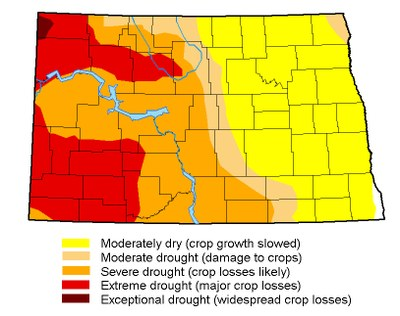 Drought map for August 22, 2017