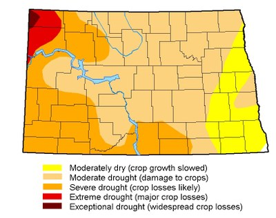 Drought map for September 19, 2017