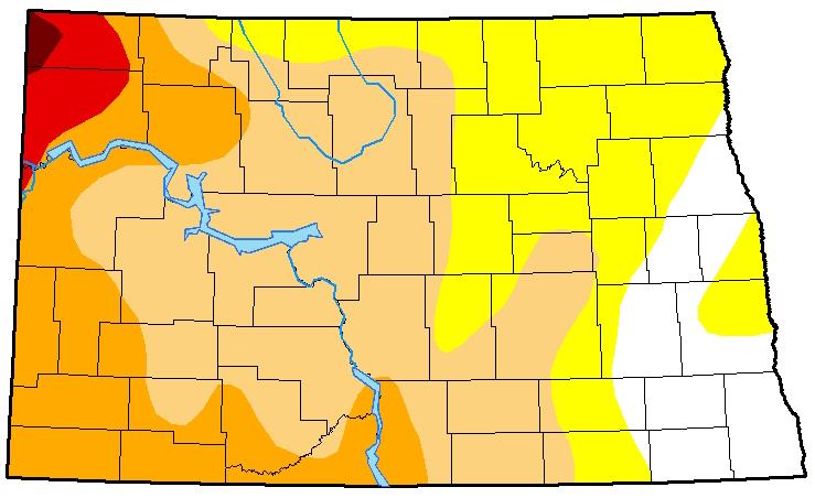 Drought map for September 26, 2017