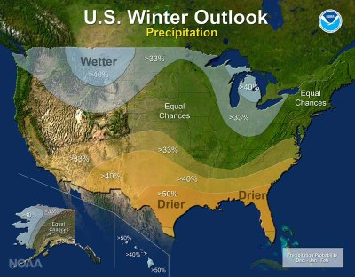 U.S. Winter Outlook 2016-17: Precipitation