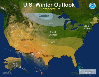 U.S. Winter Outlook 2016-17: Temperature
