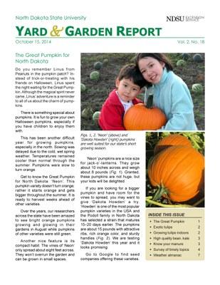 NDSU Yard & Garden Report for October 15, 2014