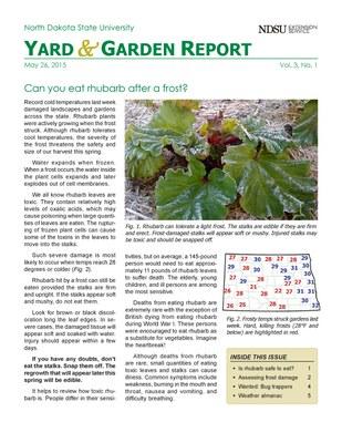 NDSU Yard & Garden Report for May 26, 2015