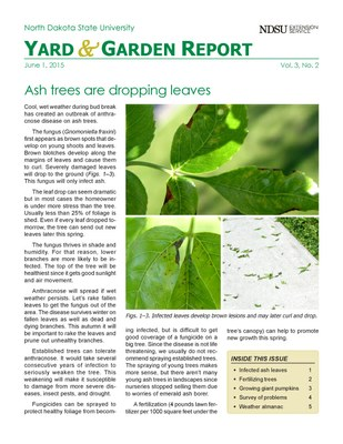 NDSU Yard & Garden Report for June 1, 2015