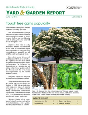 NDSU Yard & Garden Report for June 15, 2015