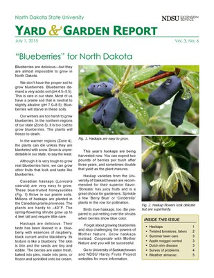NDSU Yard & Garden Report for July 1, 2015