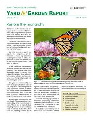 NDSU Yard & Garden Report for July 18, 2015