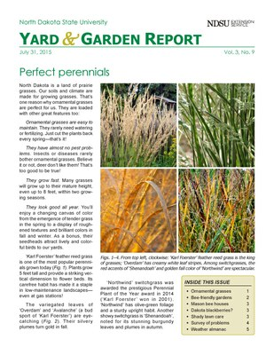NDSU Yard & Garden Report for July 31, 2015
