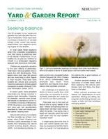 Yard & Garden Report for October 1, 2015