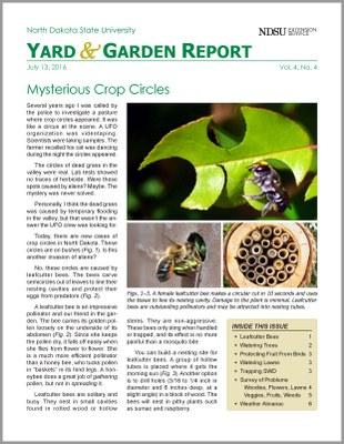 NDSU Yard & Garden Report for July 13, 2016