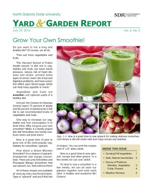 NDSU Yard & Garden Report for July 29, 2016