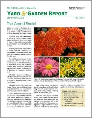 NDSU Yard & Garden Report for September 27, 2016
