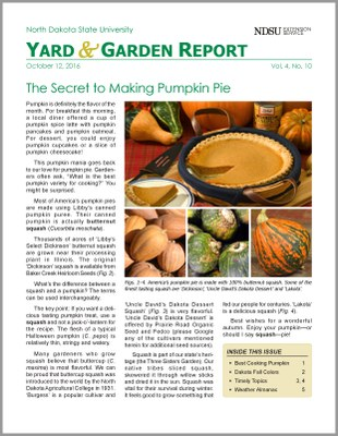 NDSU Yard & Garden Report for October 12, 2016