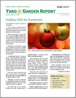 NDSU Yard & Garden Report for November 22, 2016