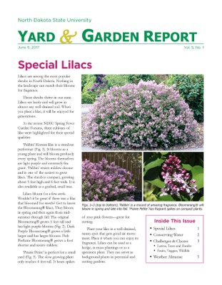 NDSU Yard & Garden Report for June 9, 2017