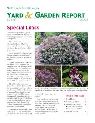 NDSU Yard & Garden Report for June 9, 2017