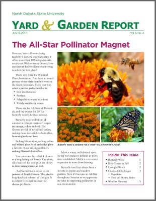NDSU Yard & Garden Report for July 15, 2017
