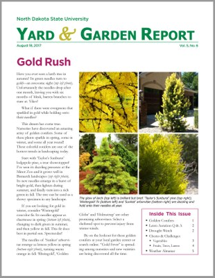 NDSU Yard & Garden Report for August 18, 2017