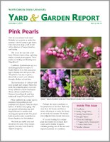 NDSU Yard & Garden Report for October 7, 2017