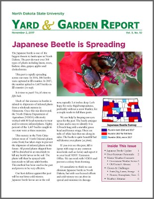 NDSU Yard & Garden Report for November 2, 2017