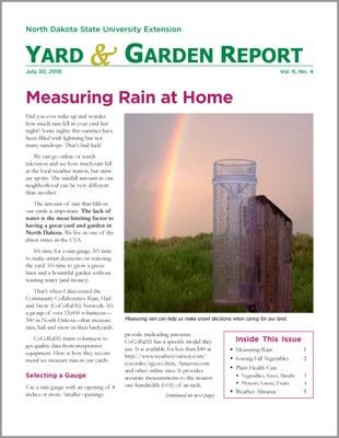 NDSU Yard & Garden Report for July 30, 2018