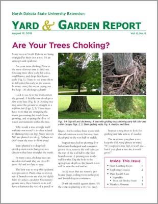 NDSU Yard & Garden Report for August 13, 2018
