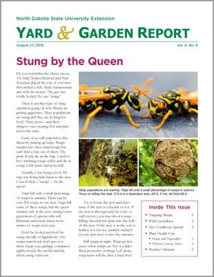 NDSU Yard & Garden Report for August 27, 2018