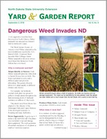 NDSU Yard & Garden Report for September 3, 2018