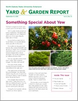 NDSU Yard & Garden Report for September 10, 2018